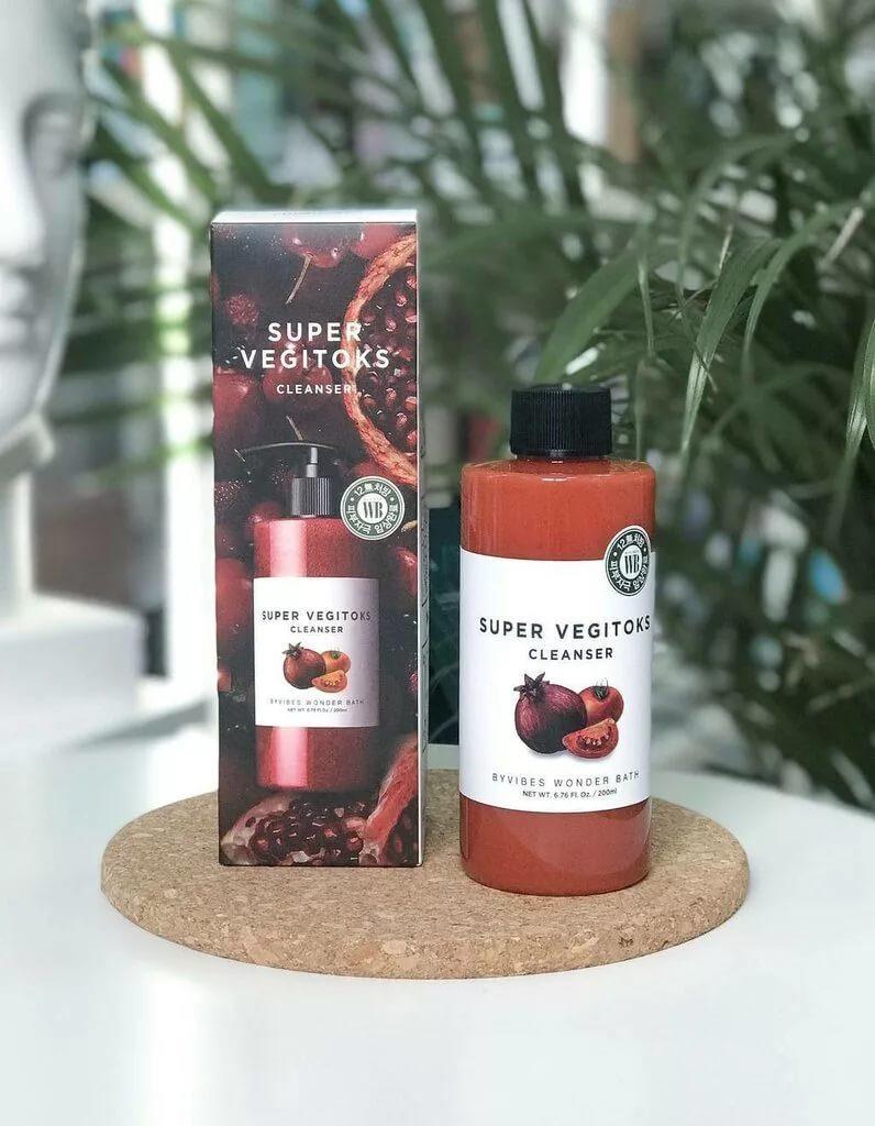 Супер-средство для детокс-очищения лица Chosungah Byvibes Wonder Bath Super Vegitoks Cleanser Red
