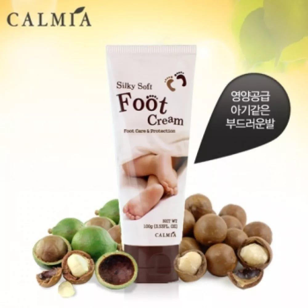 Питательный крем для ног Calmia Silky soft foot cream с маслом макадамии, 100 г
