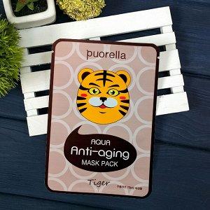 Тканевая маска PUORELLA Tiger (тигр) против старения 23 гр