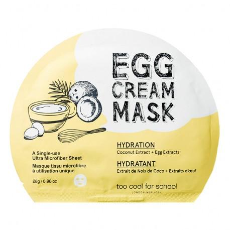 Too Cool For School Egg Cream Mask Hydration 28g Увлажняющая тканевая маска для лица с яичным экстрактом