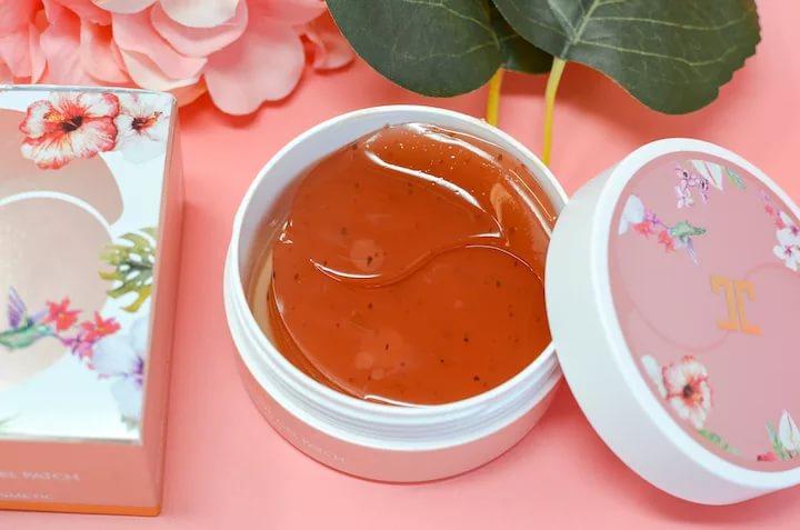 Jayjun Roselle Tea Eye Gel Patch Гидрогелевые патчи с цветами гибискуса 60 шт