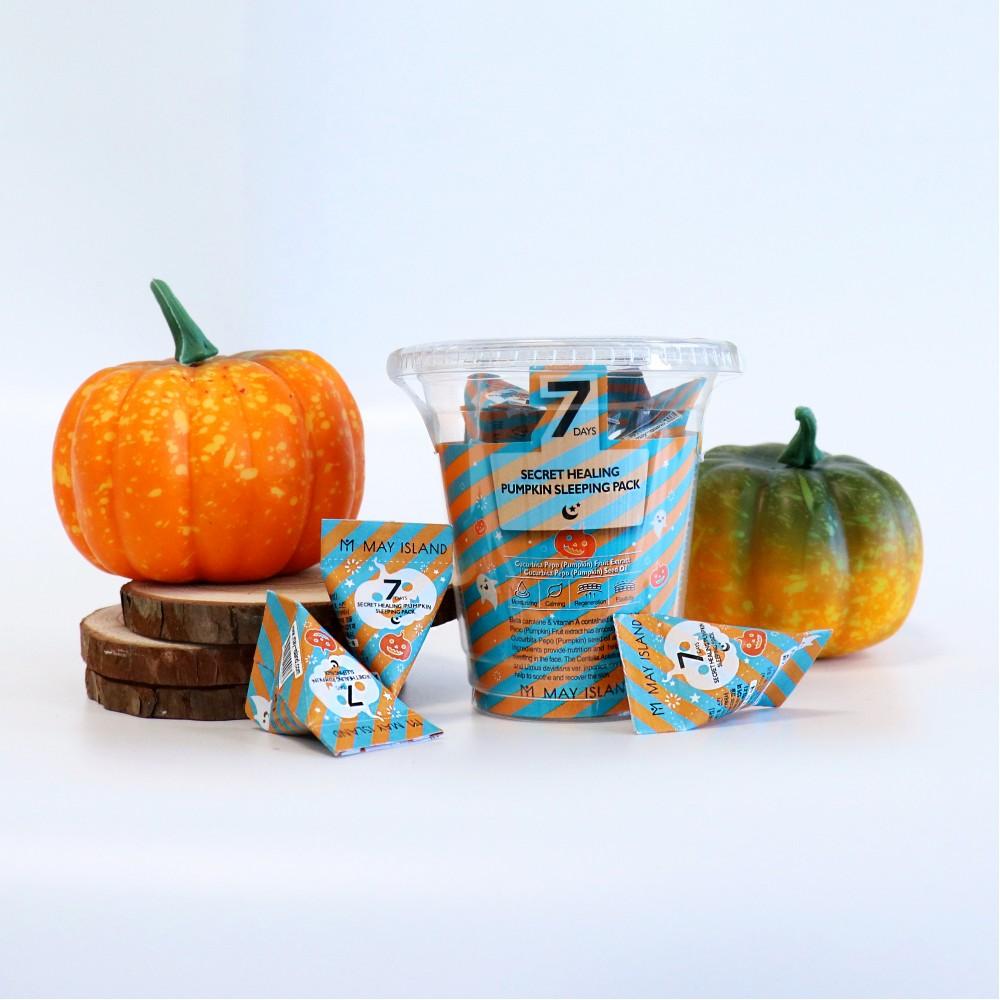 Ночная тыквенная маска для лица May Island 7 Days Secret Healing Pumpkin Sleeping Pack