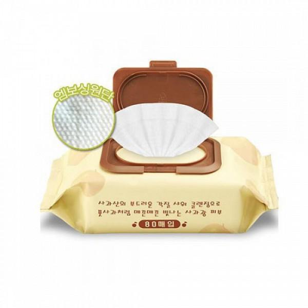 Calmia Очищающие пилинг-салфетки с экстрактом яблока «Apple Peeling Cleansing Tissue» (80шт)