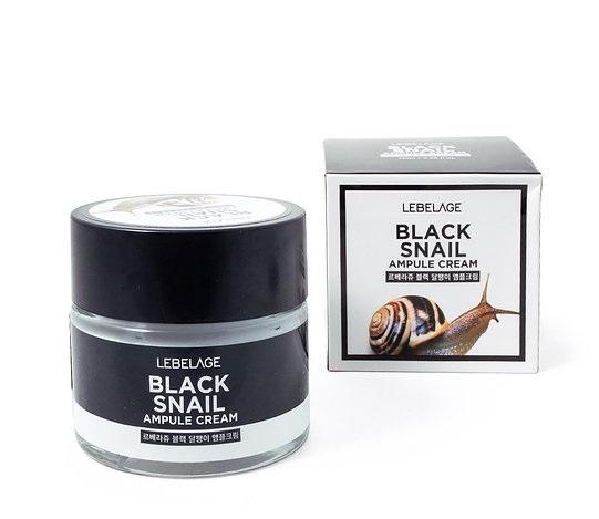 Ампульный крем с муцином чёрной улитки Lebelage Ampule Cream Black Snail