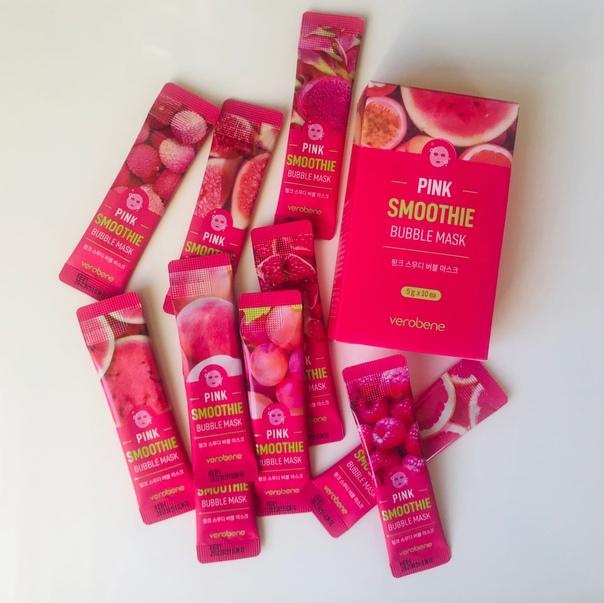 Verobene Кислородная маска смузи с красным коктейлем Pink Smoothie Bubble Mask