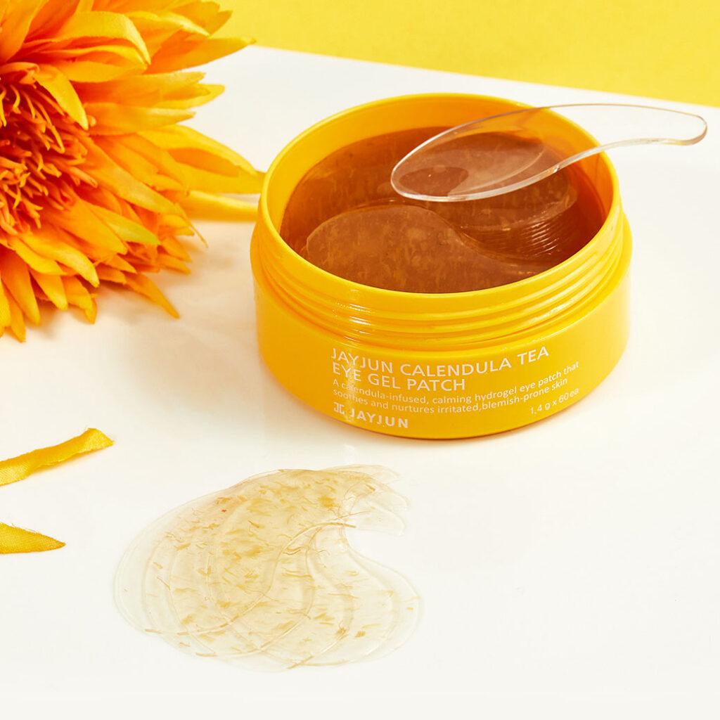 Успокаивающие патчи с календулой для раздраженной кожи Jayjun Cosmetics Calendula Tea Eye Gel Patch