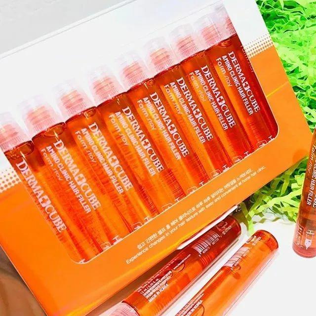 Интенсивный филлер для волос с аминокислотами FarmStay Derma Сube Amino Clinic Hair Filler