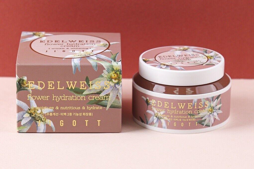 Увлажняющий крем с экстрактом эдельвейса JIGOTT Edelweiss Flower Hydration Cream