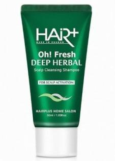 Освежающий шампунь с экстрактами трав Hair Plus Oh! Fresh Deep Herbal Shampoo 50ml