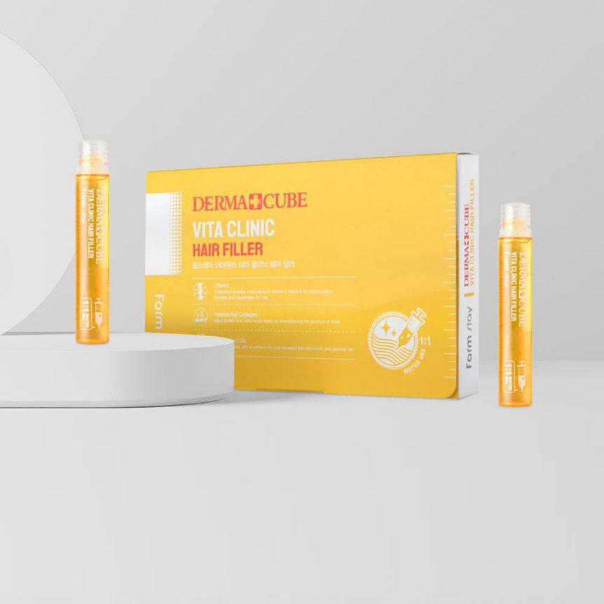 Витаминизирующий филлер для волос FARMSTAY Derma Cube Vita Clinic Hair Filler